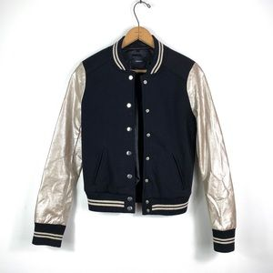 Forever 21 | Black and Gold Button Down Jacket